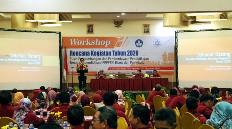 Workshop  Rencana Kegiatan PPPPTK Bisnis dan Pariwisata Tahun 2020